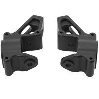 Alum. Front Hub Carrier Set (Black): HPI Baja 5b