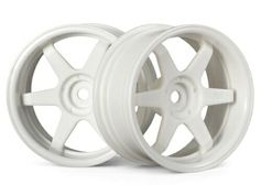 Диски 1/10 - TE37 WHEEL 26MM WHITE (6MM OFFSET) 2шт