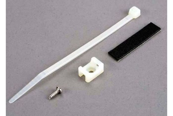 Attachment bracket, plug/ foam tape/tie wrap/ 3x10mm wst screw (old style, replace with 4132)
