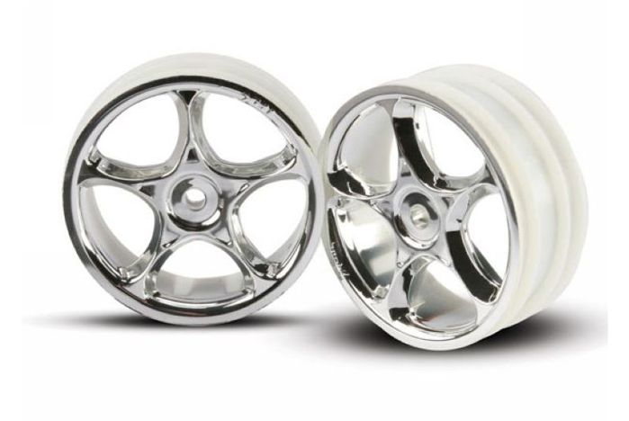 "Wheels, Tracer 2.2"" (chrome) (2) (Bandit front)"