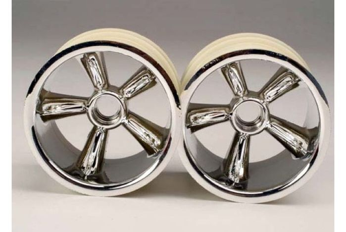 "TRX Pro-Star chrome wheels (2) (front) (for 2.2"" tires)"