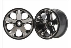 "Wheels, All-Star 2.8"" (black chrome) (nitro front) (2)"