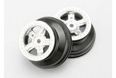 "Wheels, SCT satin chrome, beadlock style, dual profile (1.8"" outer, 1.4"" inner) (2)"