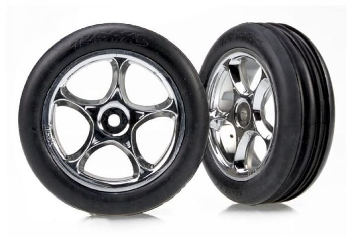 "Tires & wheels, assembled (Tracer 2.2"" chrome wheels, Alias ribbed 2.2"" tires) (2) (Bandit f"