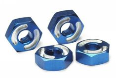 HEX WHEEL HUBS,ALUM (BLUE)-������� ������������, 4��.
