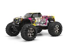 Кузов 1/8 NITRO GT-3 TRUCK (YELLOW/PINK/BLACK) окрашен