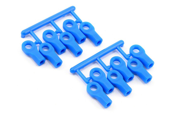 Short Rod Ends (12), Blue: TRA 1/10-