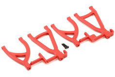 Rear Upper/Lower A-Arms, Red: 1/16 ERV-
