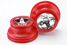 WHEELS, SCT CHROME, RED BEADLO-диск колеса, 2шт.