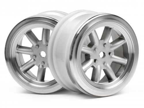 Диски 1/10 - VINTAGE 8 SPOKE 26mm MATTE CHROME / 0mm OFFSET (2шт)