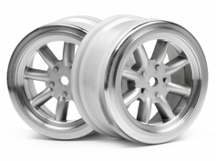 ����� 1/10 - VINTAGE 8 SPOKE 26mm MATTE CHROME / 0mm OFFSET (2��)