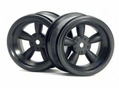 ����� 1/10 - VINTAGE 5 SPOKE 31MM (WIDE) BLACK (6MM OFFSET) 2��
