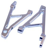 Alum. Rear Shock Support (Silver): HPI BAJA 5B/SS