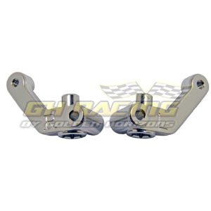 Alum. Steering Block (Silver): Associated SC10