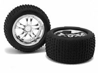 MINIZILLA MICRO PIN TIRE & CHROME WHEEL PR