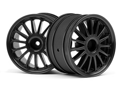"Диски ралли 1/8 - WR8 TARMAC BLACK (2.2""/57X35MM/2шт)"