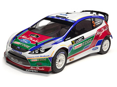 Кузов ралли 1/8 - FORD FIESTA ABU DHABI WRC (WHITE/GREEN/RED) окрашен