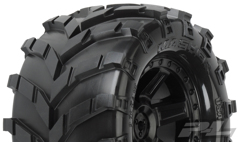 "Колеса трак 1/10 - Masher 2.8"" (Traxxas Style Bead) All Terrain (Desperado Black Rear Wheels) 2шт (for Electric Stampede/Rustler)"