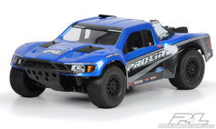 Кузов SC 1/10 - Flo-Tek Ford F-150 Raptor SVT (for Slash, Slash 4X4, SC10, Ultima SC and Blitz) некрашеный