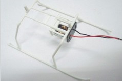Landing Skids and Battery Frame (WHITE)
