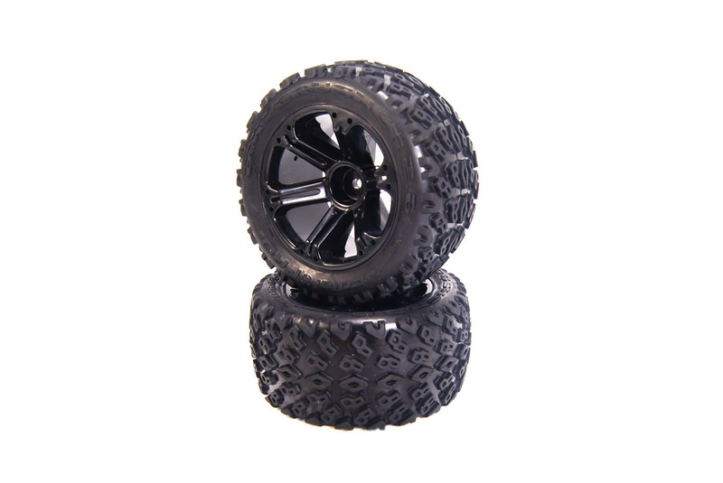 Dirt Crusher 2.8 Tires mounted on Addict 2.8 Black Wheels, Front EP - Rear NT