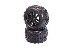 Mud Rocker 4.0 Tires mounted on Cyclon 4.0 Black Wheels, Front & Rear