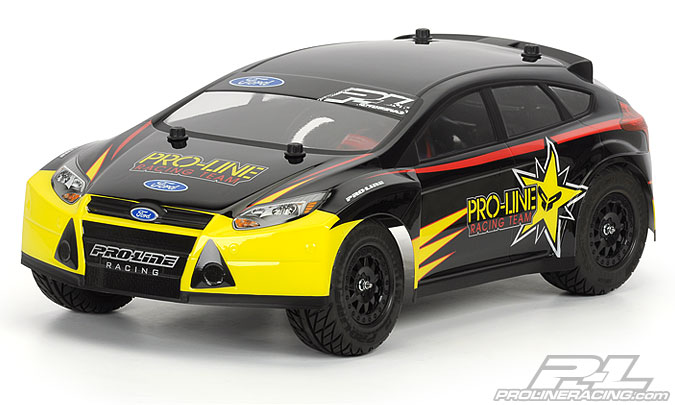 Кузов трак 1/8 - 2012 Ford Focus ST Clear body for Slash 2wd, Slash 4x4, SC10 & SC10 4x4 (with extended body posts)
